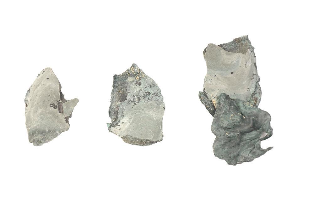 Metamorphism by Shahar Livne : The process of arriving at new 'metamorphic' rock-like material , Image courtesy Shahar Livne