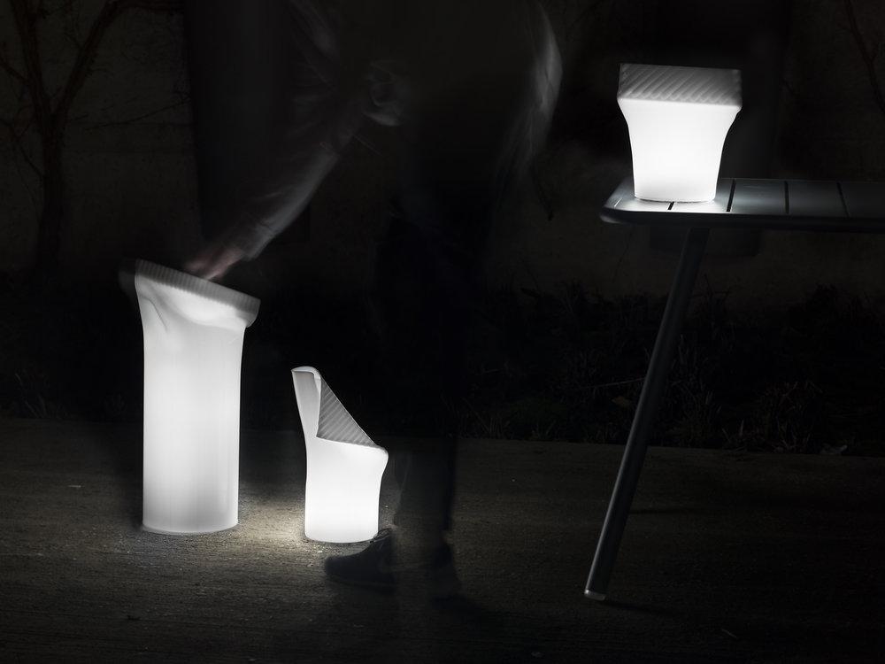 Lit Morsetto Lamps by Ignacio Merino, Images by Eunuk Nam and Ignacio Merino.