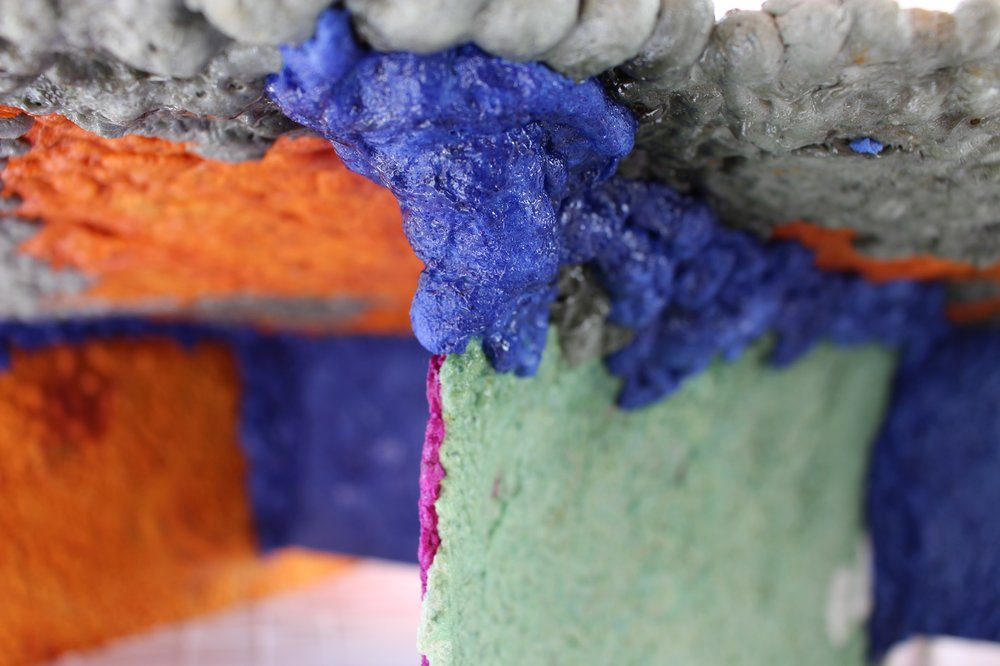 Recycled polystyrene material by Sam Lander
