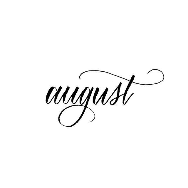 It's...august...😱