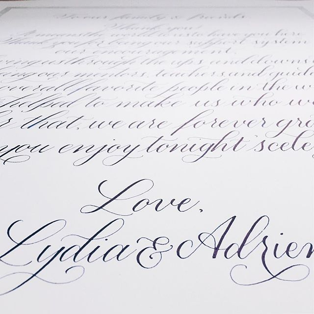 Love, Lydia & Adrien. Happy wedding day, ya lovebirds.