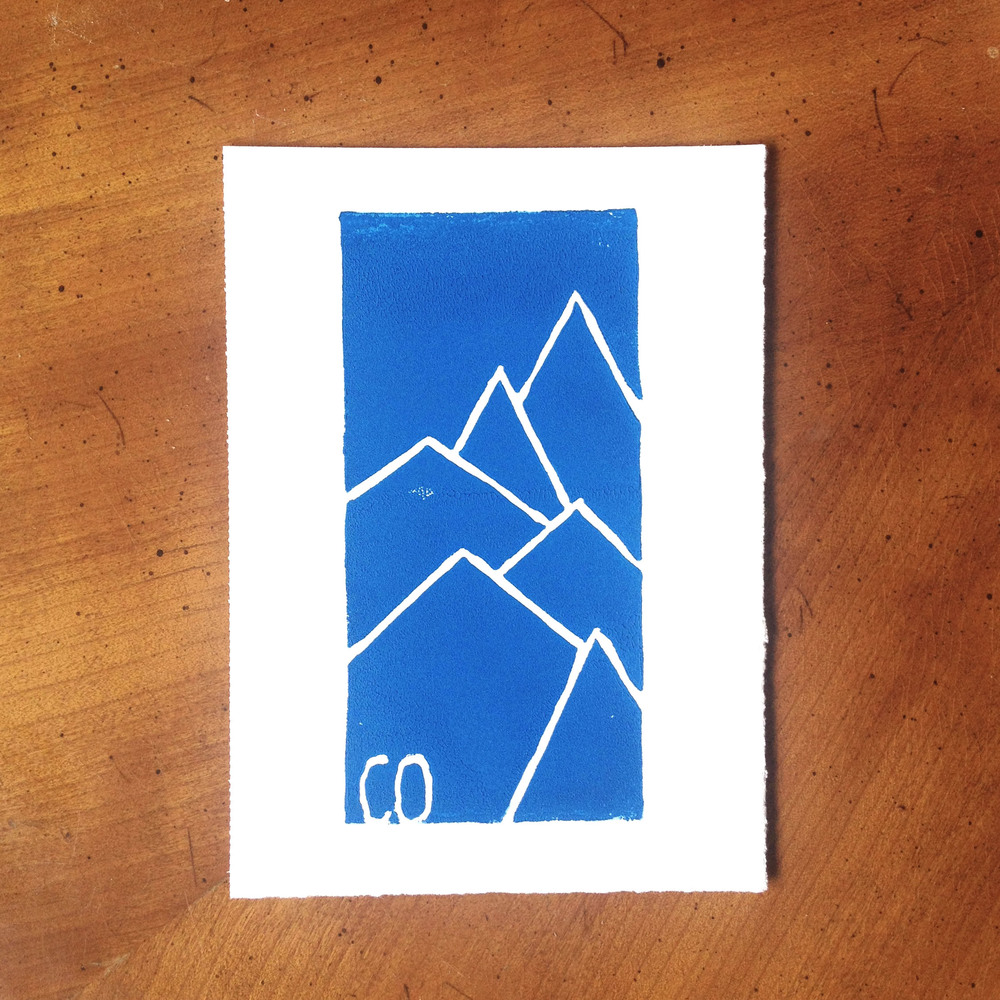 Colorado Mountain Print