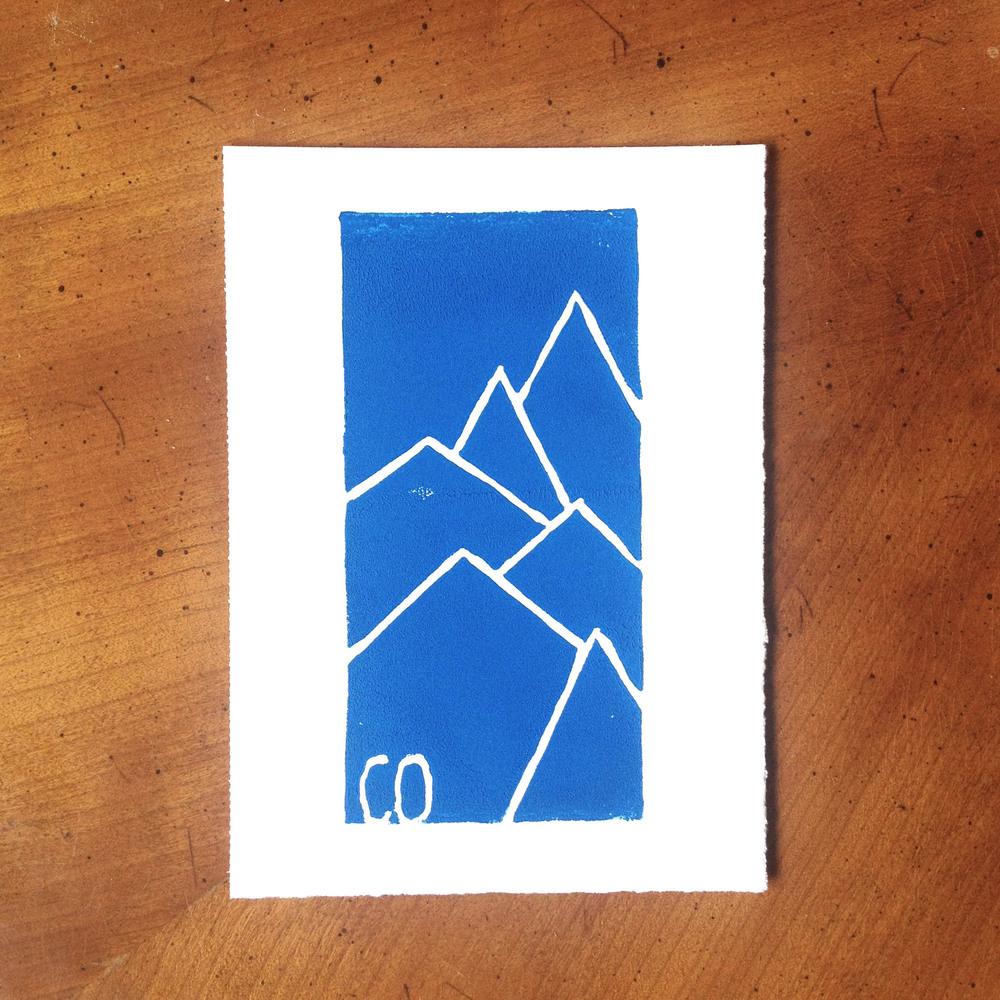 Colorado Mountain Print
