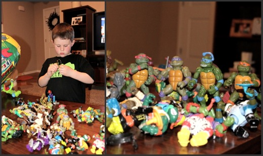 Kaleb and Ninja Turtles