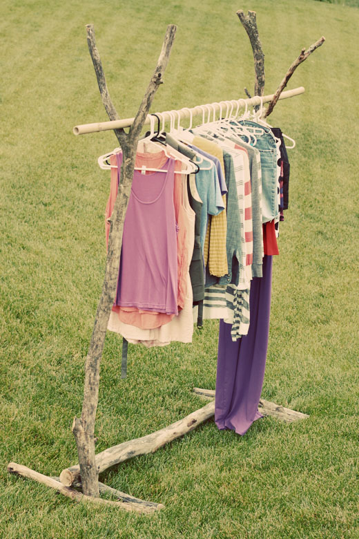 Wood Clothing Rack