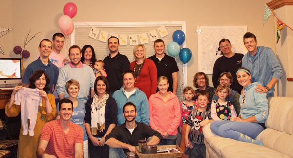 gender reveal party group