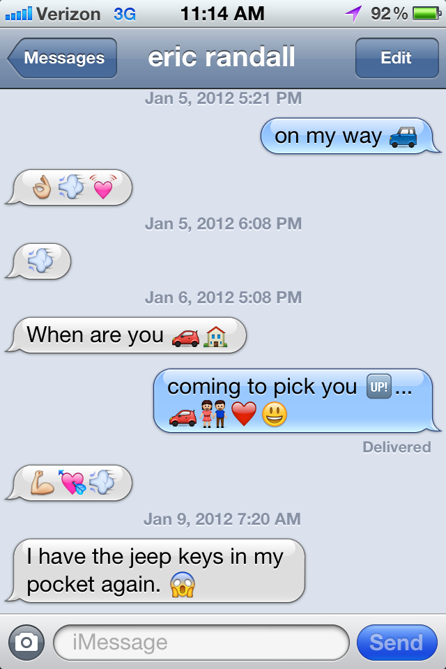 Emoji image texts with iPhone