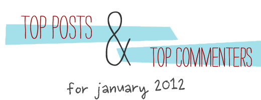 top posts and commenters for January 2012
