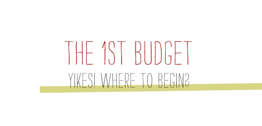 How to make a budget for the first time