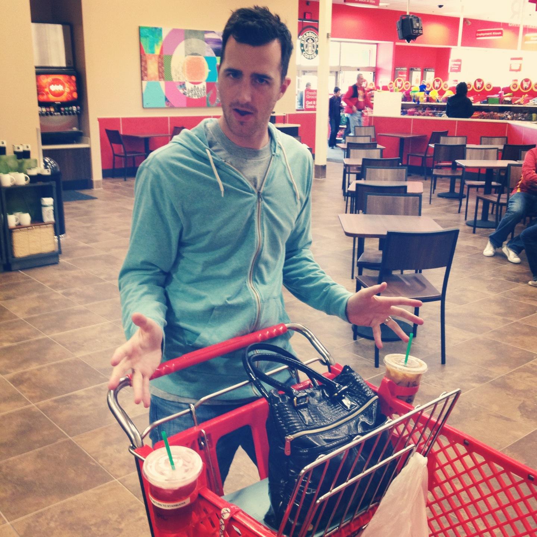 Target shopping Dad