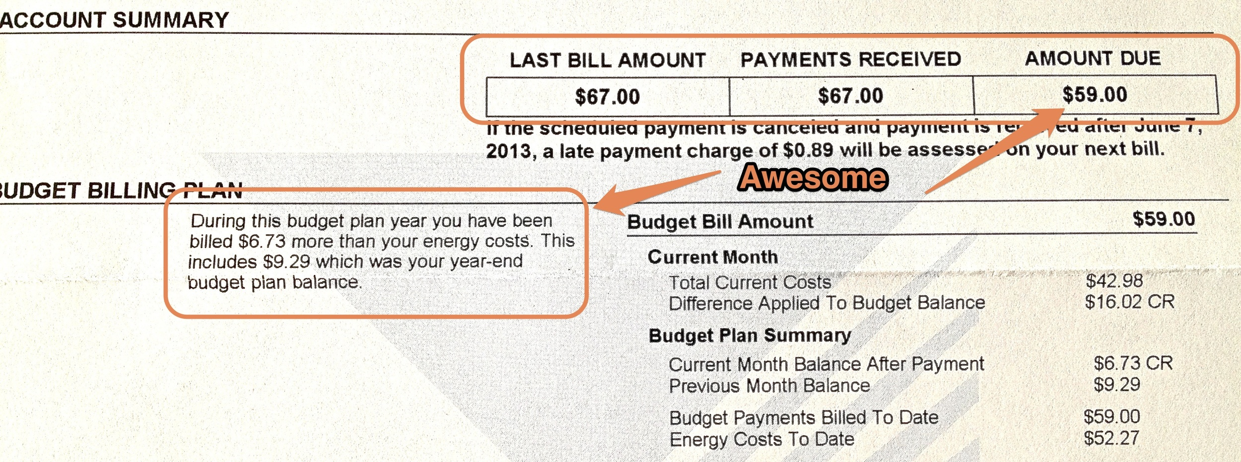 Budget Billing Cycle