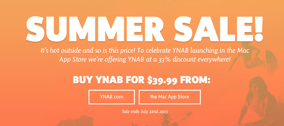 YNAB on Sale!
