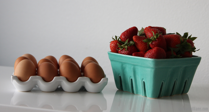 Costco eggs and strawberries
