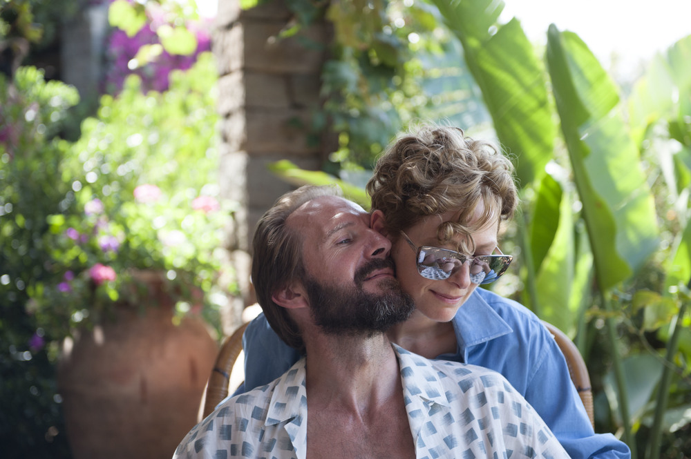 Ralph Fiennes and Tilda Swinton star in director Luca Guardagnino's A Bigger Splash
