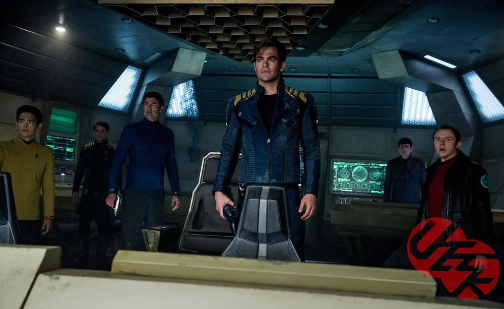 John Cho, Anton Yelchin, Karl Urban, Chris Pine, Zachary Quinto, and Simon Pegg star in  Star Trek Beyond.