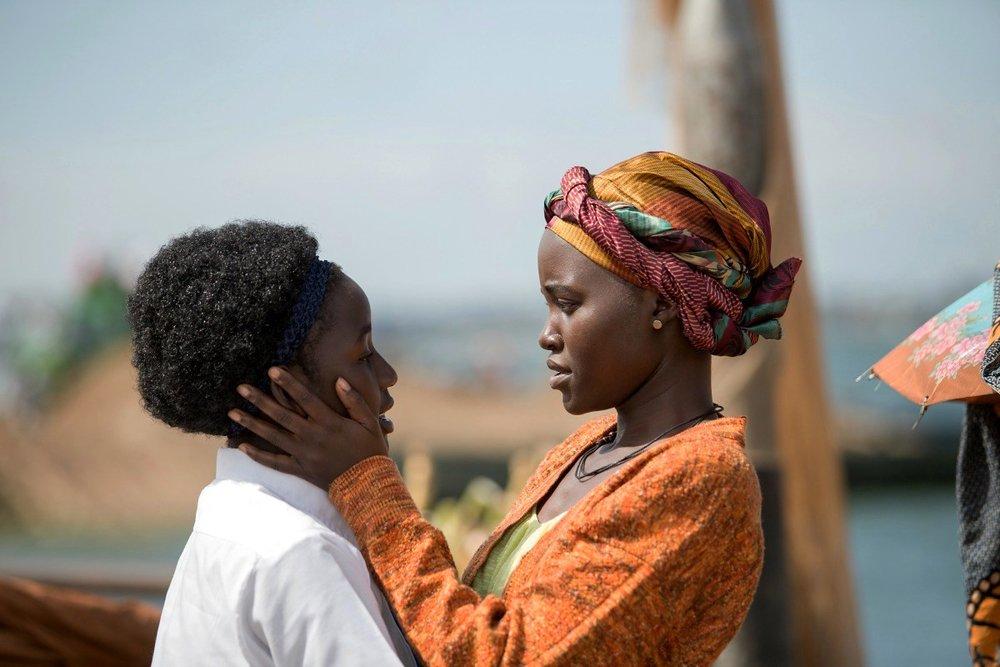 Madina Nalwanga and Lupita Nyong'o star in  Queen of Katwe