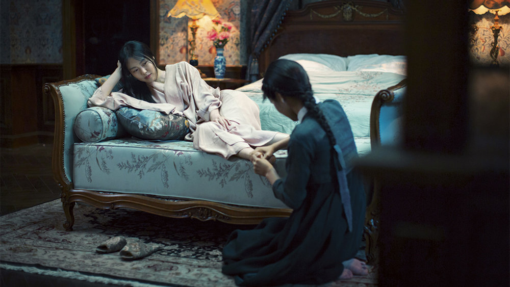 Min-hee Kim and Kim Tae-ri play a Japanese heiress and a pickpocket hired as her handmaiden in Director Park Chan-wook's   The Handmaiden