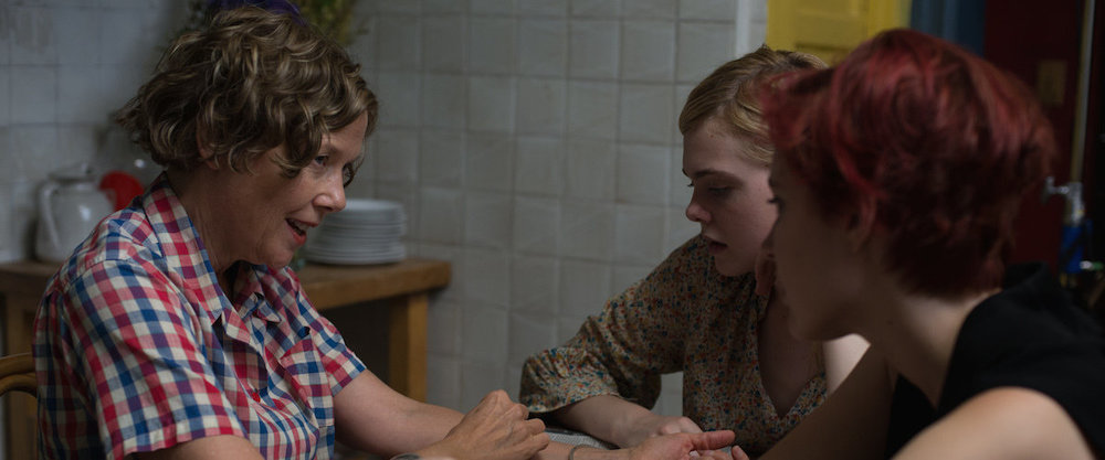 Annette Bennin, Elle Fanning, and Greta Gerwig star in director Mike Mills's  20th Century Women