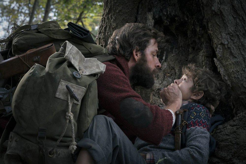John Krasinski and Noah Jupe star in  A Quiet Place