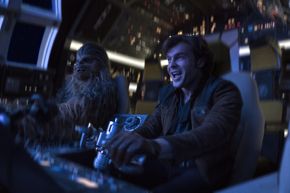 Alden Ehrenrich as Han Solo in  Solo: A Star Wars Story
