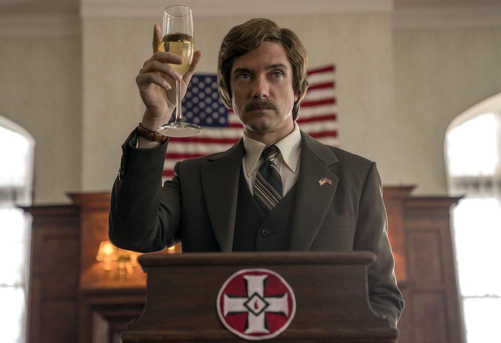 Topher Grace stars as David Duke in  BlacKkKlansman , the latest Spike Lee joint