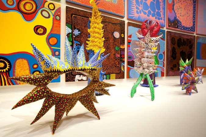 "Sculptures and paintings from ""My Eternal Soul"" (begun in 2009).  Credit: Tyrone Turner for The New York Times"