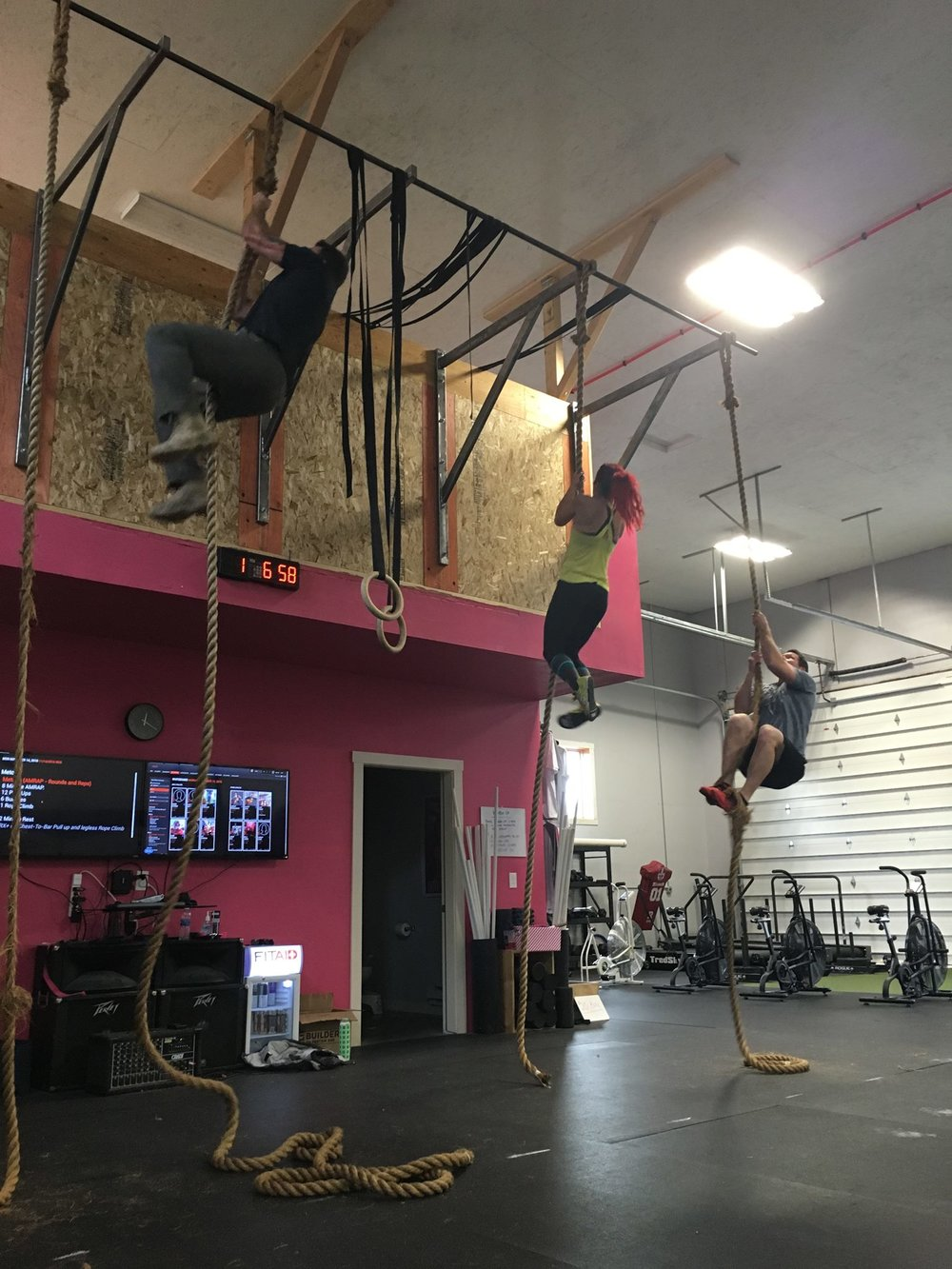 Rope climbs today - bring your socks!