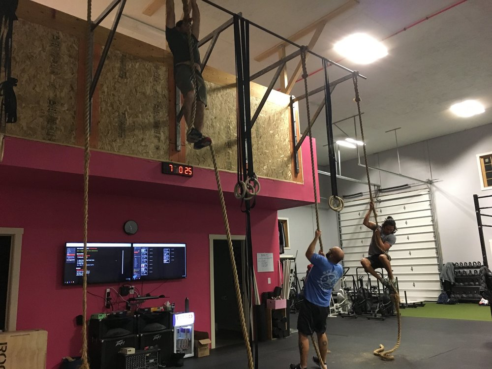 There may be rope climbs!