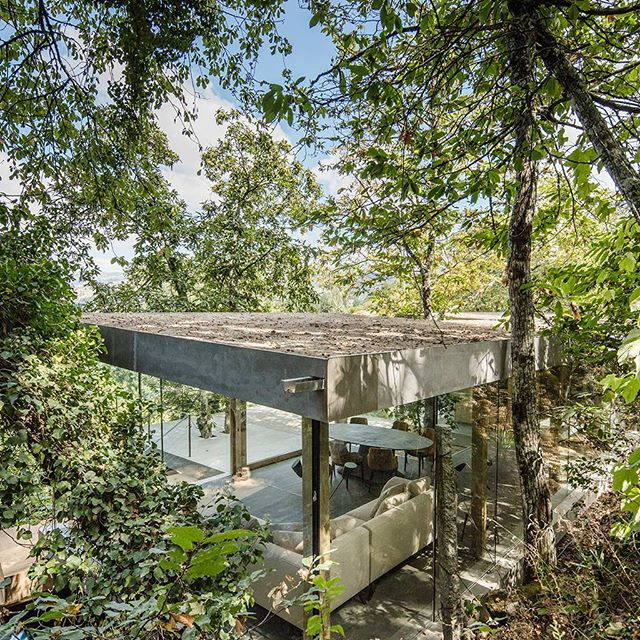 hoje em #portuguesematters - CLOAKED HOUSE, uma casa que se inspira na natureza que a envolve, projectada por @3rernestopereira (link na bio) - today on #portuguesematters - CLOAKED HOUSE, a house inspired by the nature surrounding it, designed by @3rernestopereira (link in bio) - 📷: @joaodmorgado + https://www.portuguesematters.com/blog/2018/1/29/cloaked-house-ernesto-pereira  #arquitectura #arquitetura #architecture #arquitecturaportuguesa #portuguesearchitecture #habitação #residential #housing #vidro #glass #cloakedhouse #3r #3rernestopereira #portugal #marcodecanaveses