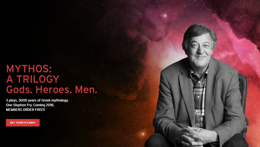 Stephen Fry is making a rare appearance in the casting for Shaw 2018 - get your tickets before they're sold old!