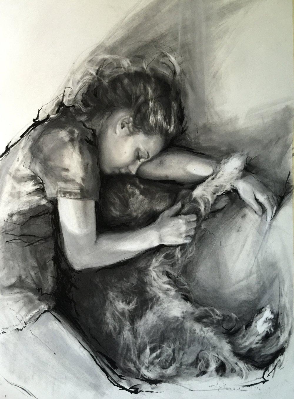 Grochulska_charcoal_drawing_a_nap_.JPG
