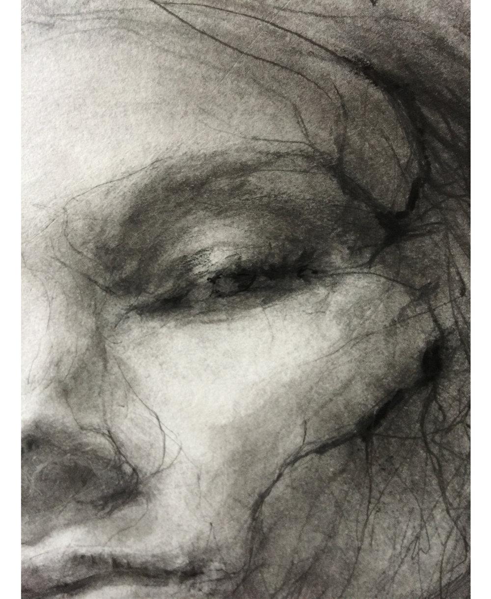 Selfportrait 1/17, detail