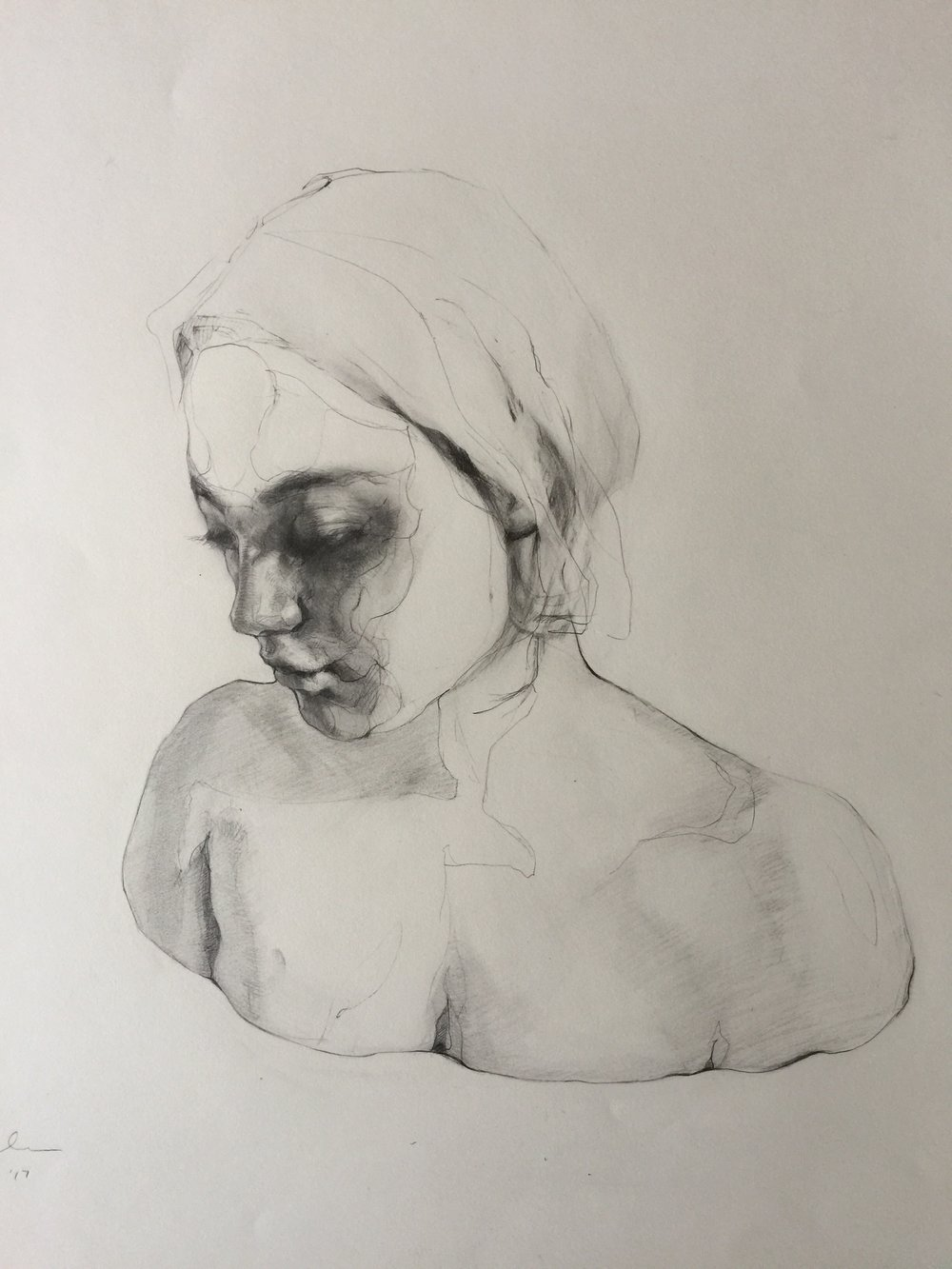 Agnes_Grochulska_Synthesis_Art_Process:Bust_3_pencil_18x24.JPG