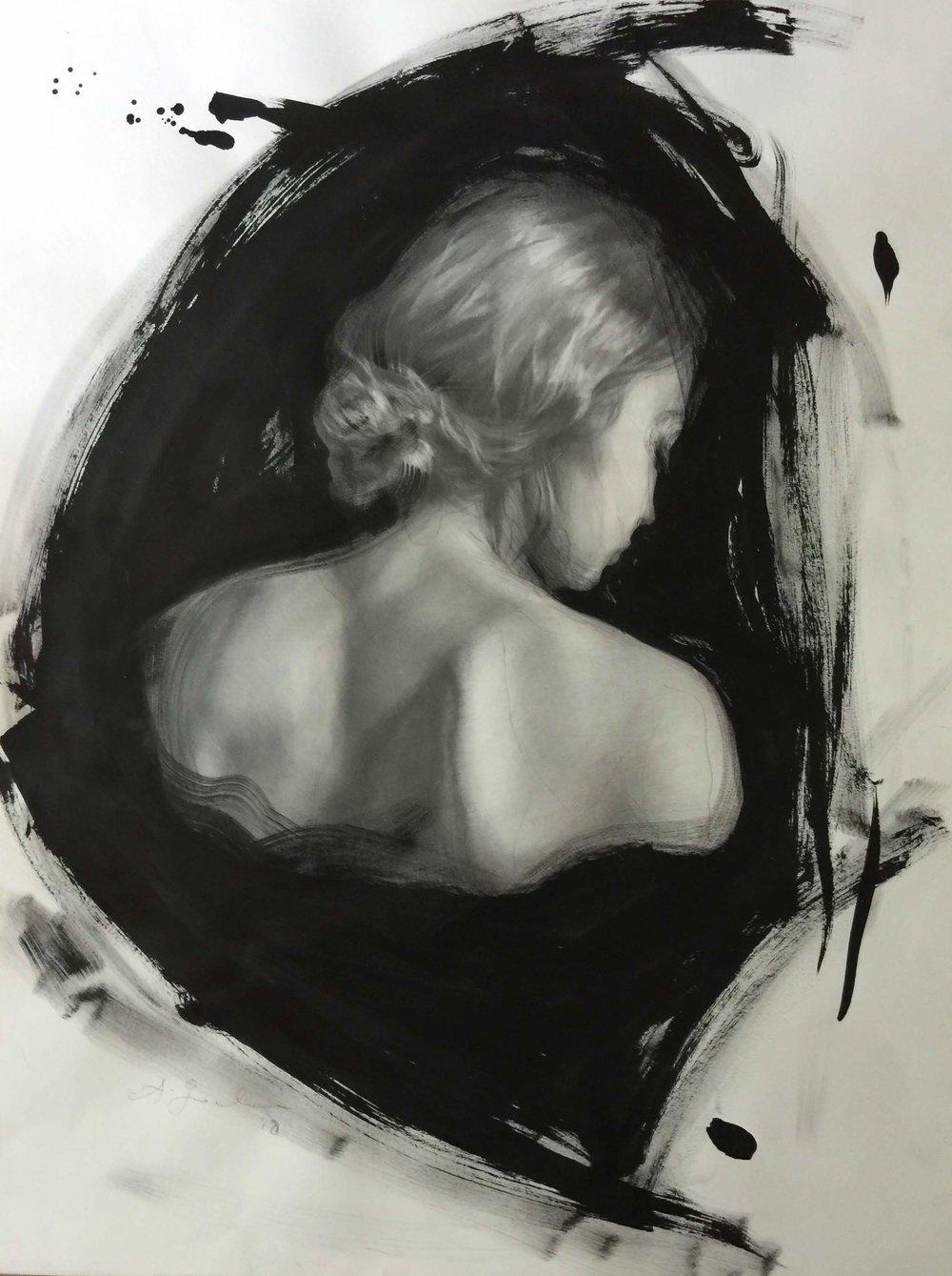 'Bust 1', 18x24%22, ink & graphite.JPG