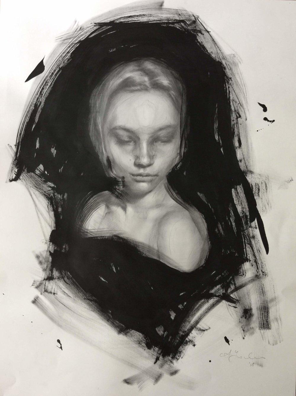 'Bust 2', 18x24%22, ink & graphite.JPG