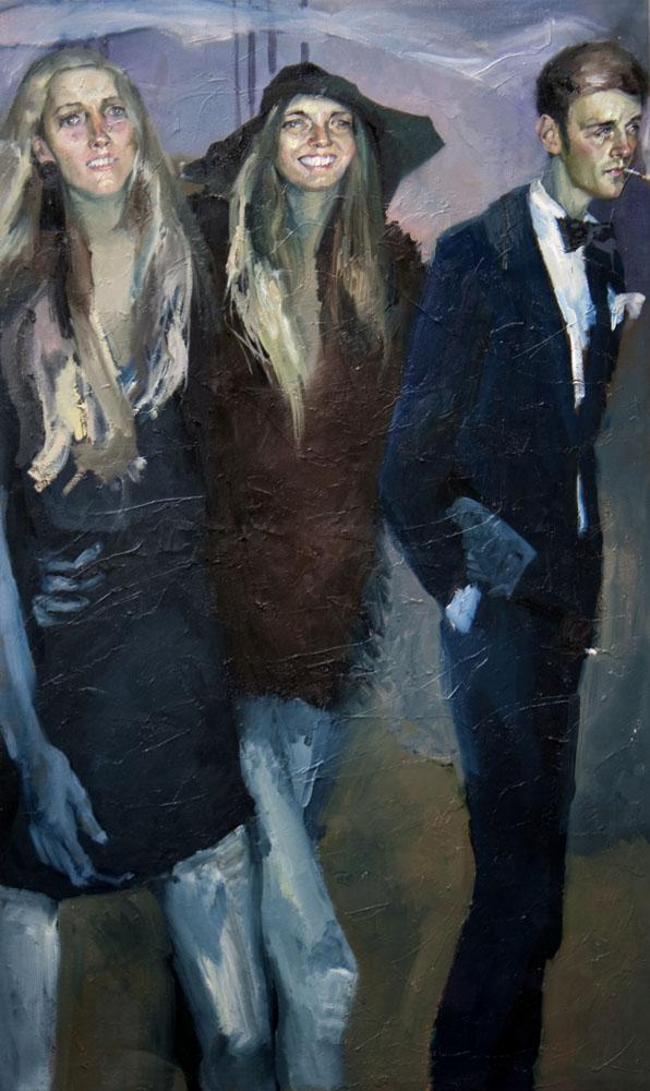 """"""" Group A""""   2016   Oil on canvas   150 x 90cm"""
