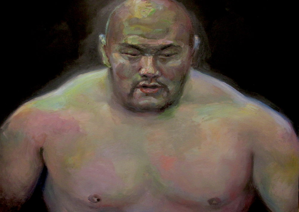 """Heavyweight""  2016   Oil on canvas   65 x 90cm"