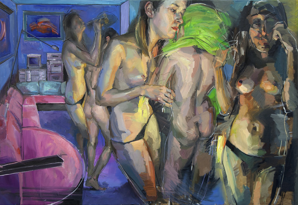 Girl`s room 2017 100 x 150cm Oil on canvas SOLD