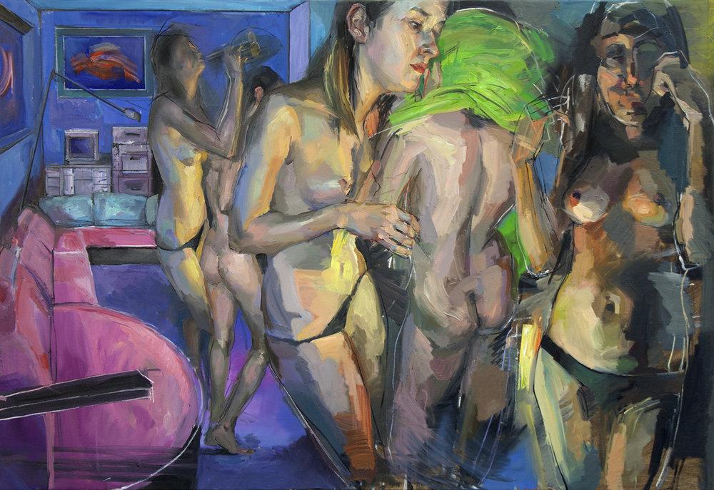 Girl`s room 2017 100 x 150cm Oil on canvas