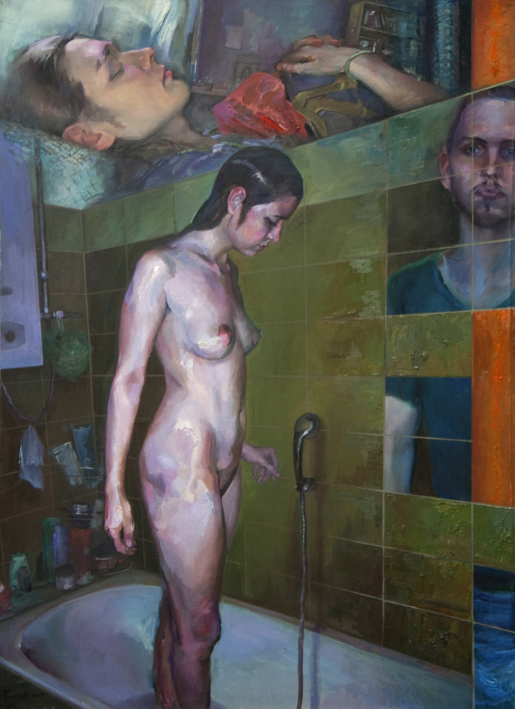 """""""Small Hours"""" 2015 Oil on canvas 150 x 109cm"""