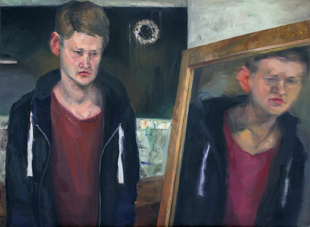 """Brother, disillusioned"" 2018 Oil on canvas 56 x 89cm"