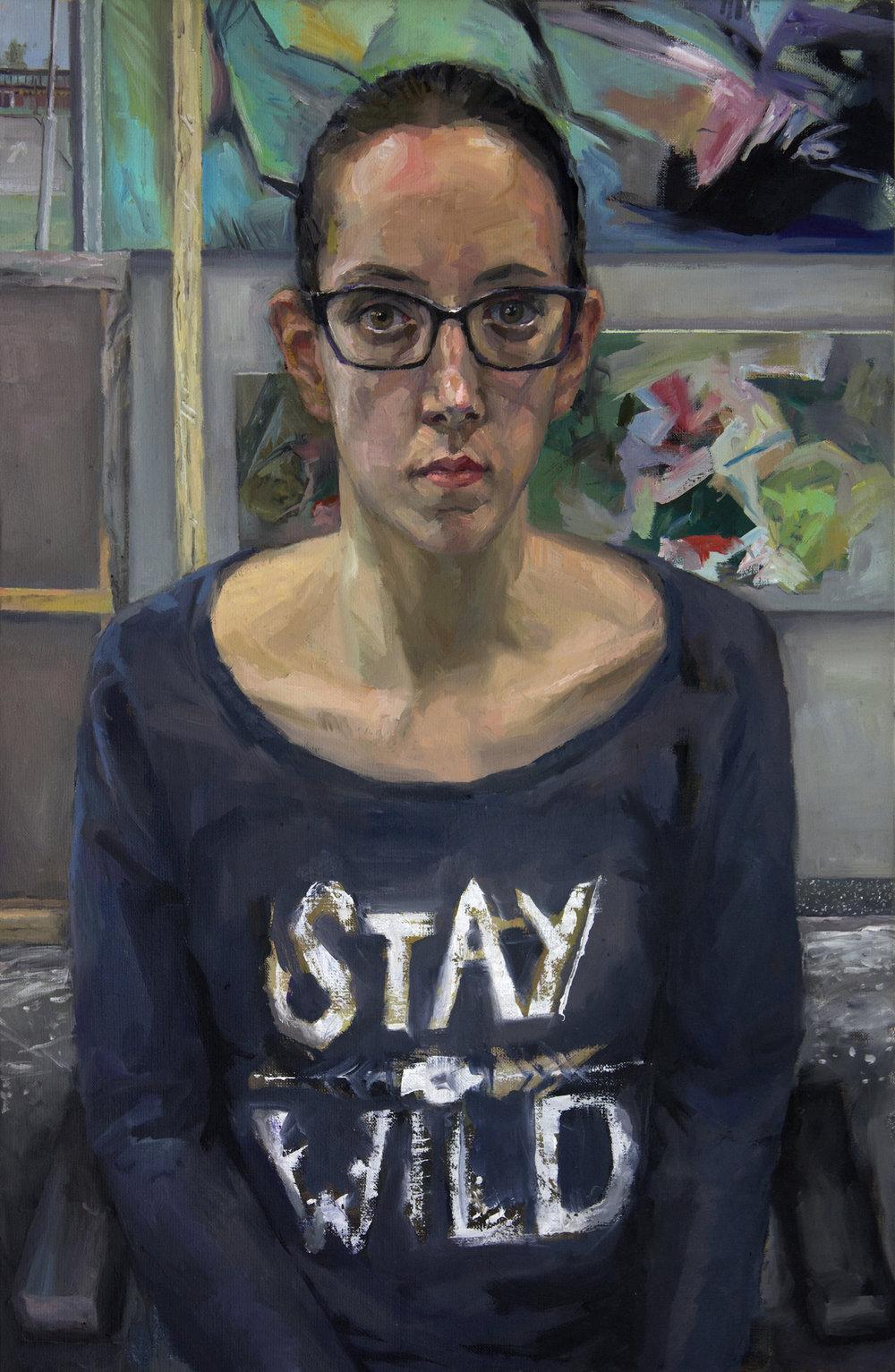 Pauliina  2018 89x58 cm oil on canvas