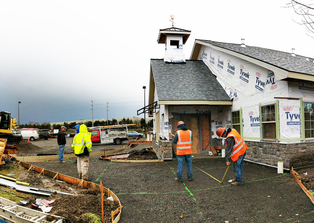 Construction progress at the Primrose School of Hillsboro