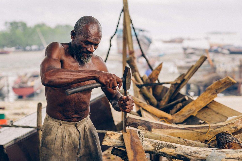 Boat builders, Zanzibar
