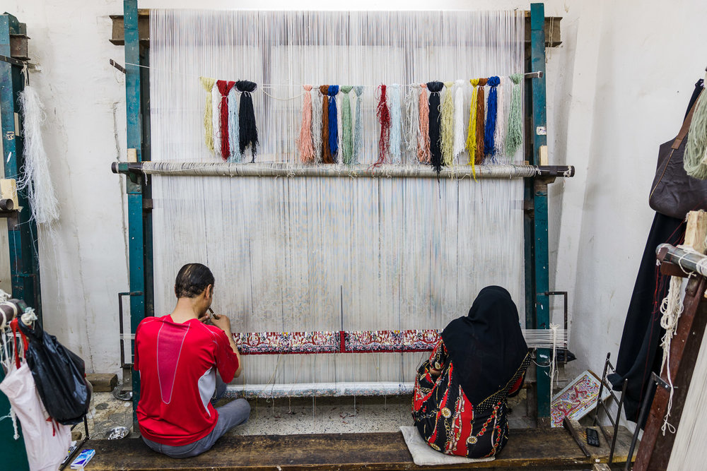 Hasan's carpet workshop