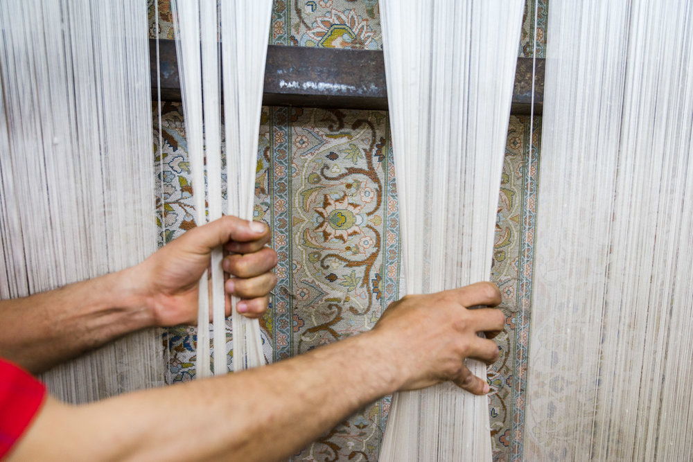 Hassan's carpet workshop
