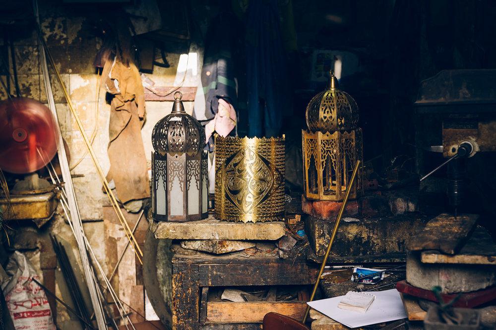 Mohammed Hani, lantern maker