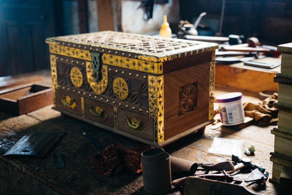 A finished Zanzibar chest