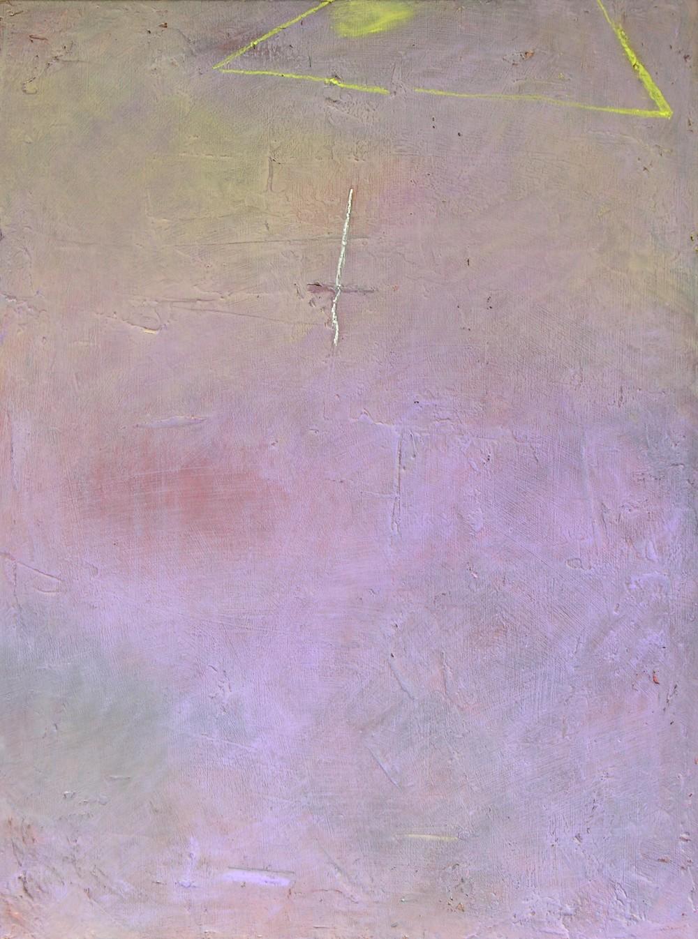 "Lightning, 24x18"", mixed media on canvas."