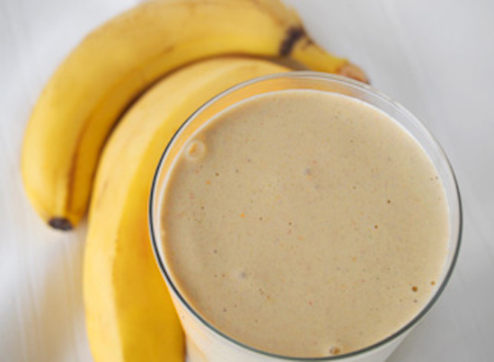Banana + coconut + whey smoothie